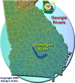 Ocmulgee River Map