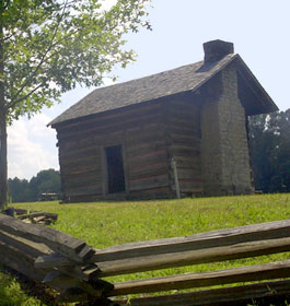 Old Log Cabin at Fort Oglethorpe