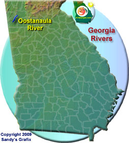 Oostanaula River Map