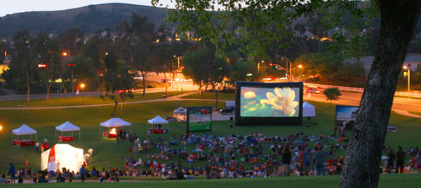 Outdoor movies at Chastain Park