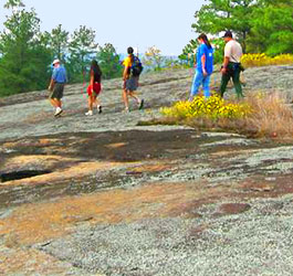 Hiking on Arabia Mountain