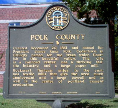 Polk County historic marker