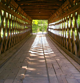 Inside Poole's Mill Covered Bridge