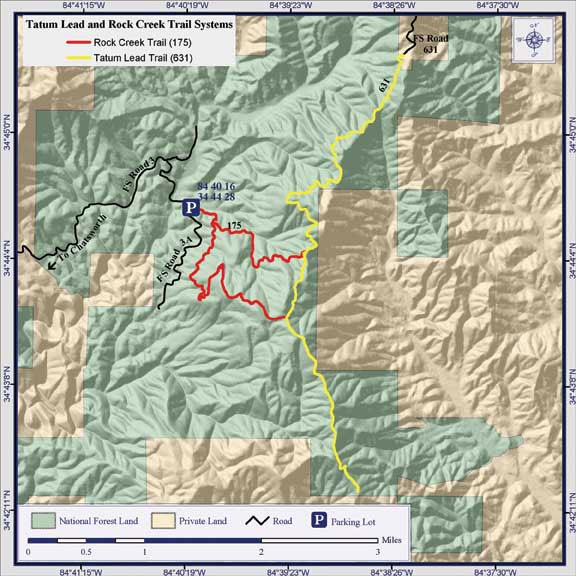 Rock Creek and Tatum Lead ORV System Trails