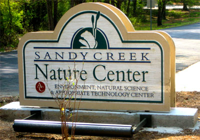 Sandy Creek Nature Center sign