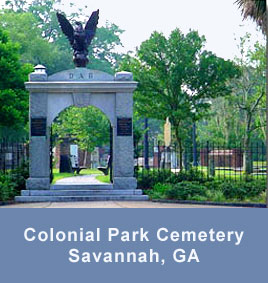 Colonial Park Cemetery in Savannah GA