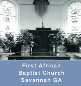 First African Baptist Church in Savannah GA