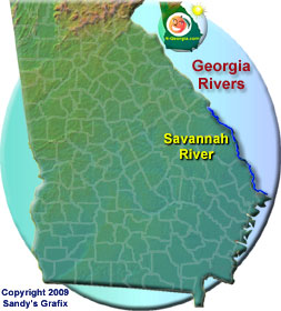Savannah River Map