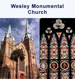 Wesley Monumental Church in Savannah GA