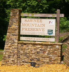 Sawnee Mountain Preserve Sign