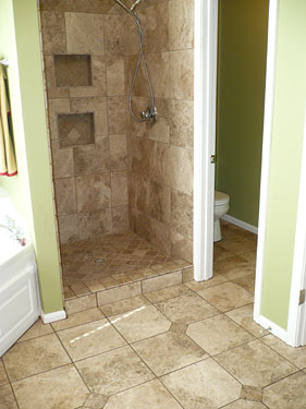 Bathroom Combo Shower And Floor