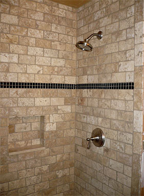 Beau Shiny Marble Floor Attractive Shower With Tumblestone Marble Marble Tile Is  A Beautiful Natural Stone.