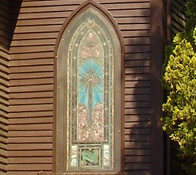 Stain glass window at St. Stephen's Episcopal Church