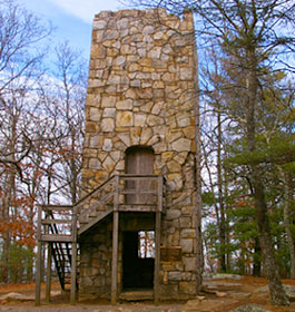 Historic Tower at Fort Mountain State Park