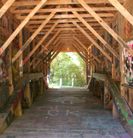 Inside Stovall Mill Covered Bridge