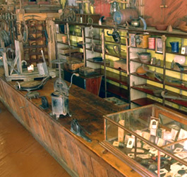 Displays at Suttons 1844 Frontier Store Museum