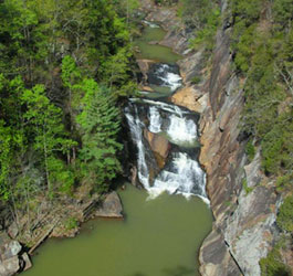 Areal View of Tallulah Gorge