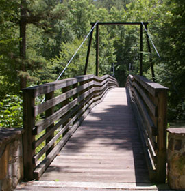 Suspension bridge at Tallulah Gorge State Park