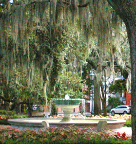 Telfair Square Water Fountain