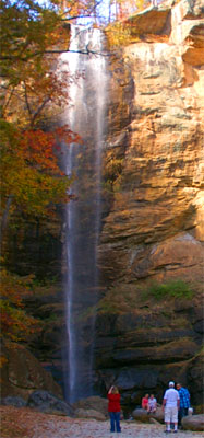Toccoa Falls Waterfall