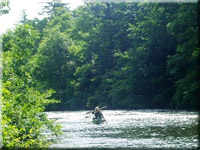 Canoeing on the Toccoa River