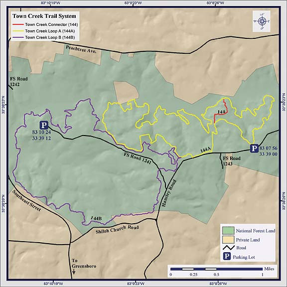 Town Creek ORV Trail System Map