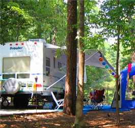 Camping at Tugaloo State Park