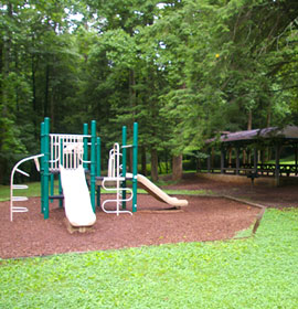 Playground and picnic pavilion