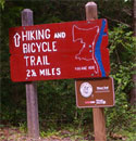 Watson Mill Bridge State Park trails sign