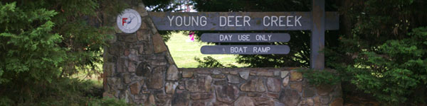 Young Deer Creek Park Sign