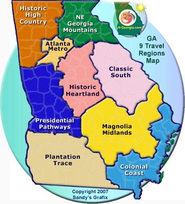 9 ga travel regions mapjpg
