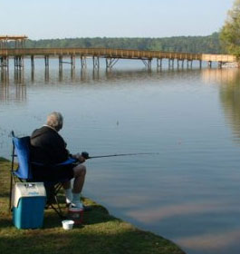 Fishing At Lake Acworth Beach