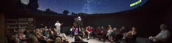georgia southern university planetarium students looking at the stars